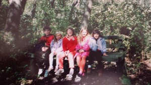 Me with my siblings and neighbors at Tifft Farms as children