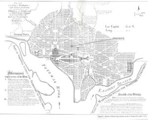 Andrew Ellicott's Plan for Washington, D.C., 1792