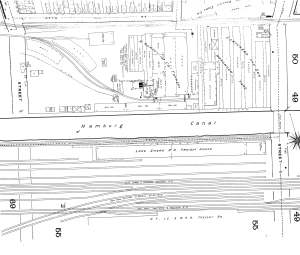 Otto Street (top of map) in 1889