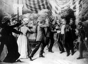 An Artist's Depiction of President McKinley's Assassination.