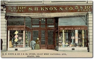 S. H. Knox & Co. 5 & 10c store, 115-117 West National Ave., Braz