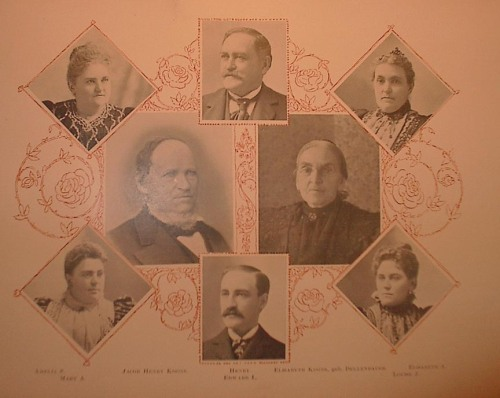 Top: Amelia, Henry, and Elisabeth Center:  Jacob and Elisabeth, nee Dellenbaugh Bottom:  Mary, Edward and Louise