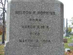 Nelson Hopkins grave