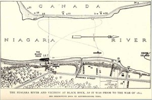 Map of Black Rock prior to the War of 1812