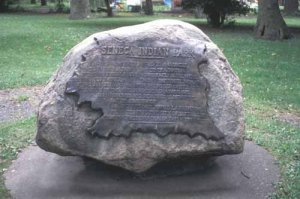 Plaque at Seneca Indian Park