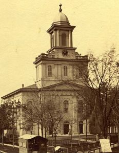 """Old First"" Presbyterian Church (1827-1890) from the First Presbyterian Church Archives"