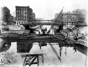 Commercial Street Bridge Over Erie Canal, 1926