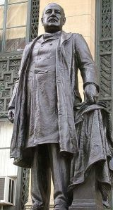 Statue of Cleveland at Buffalo City Hall