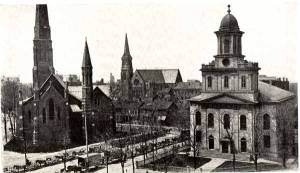 The Three Church Street Churches circa 1880s