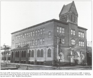 Our Lady of Mount Carmel Church, built in 1906 on LeCouteulx Street