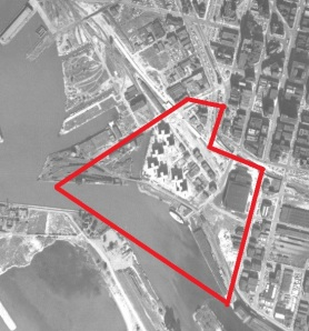 1951 Aerial view of the Canal District
