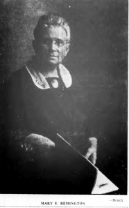 Mary Remington in 1933 Source:  Buffalo Courier Express