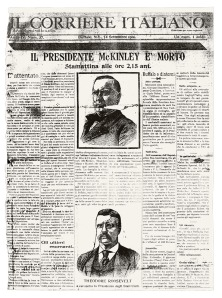 Il Corriere Italiano from the day President McKinley died in 1901