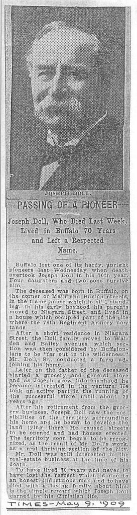 1909 Joseph Doll obit