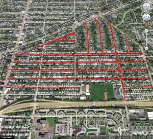 Streets in the Kensington-Bailey neighborhood named by Bickford