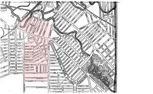 1899 View of Triangle Neighborhood