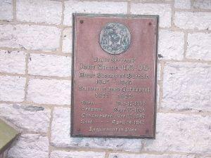 Plaque at St. Joseph's remembering John Timon