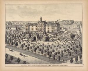 Providence Lunatic Asylum, Corner of Main and Humboldt Park, 1880 source