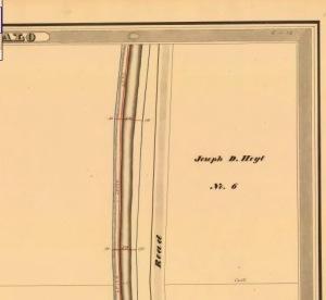 Erie Canal Survey showing Joseph D. Hoyt's Land