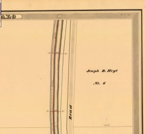 Erie Canal Survey showing Joseph D. Hoyt's Land