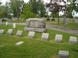 Lovejoy family plot in Forest Lawn Cemetery