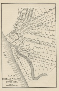 Map of Buffalo Outer Lots - Samuel Tupper purchased lot 17, north of Chippewa Street in 1808