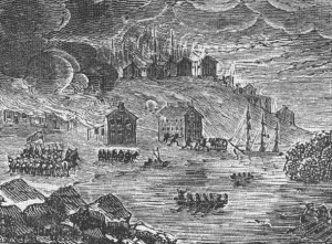 Etching of the Burning of Buffalo