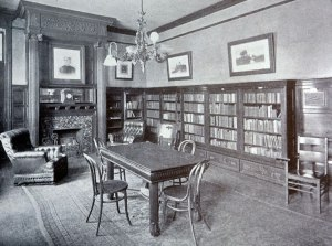 Mary Ripley Library in the Union Hall.  Source:  WNY Heritage