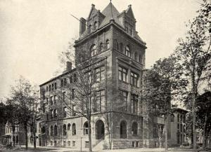 Union Building on Niagara Square c. 1890.  Source:  WNY Heritage