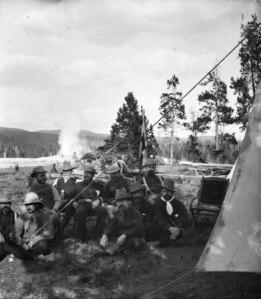Sheridan's Camp at Yellowstone