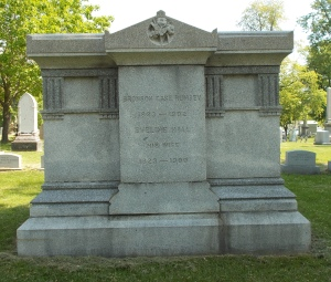 Bronson Case Rumsey's name in the Rumsey Family Plot