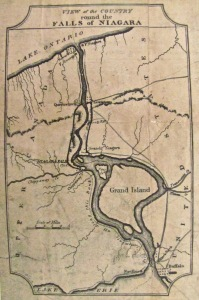 map of military road - from buffalo history gazette